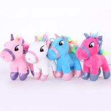 70592eaf755e 15 см очаровательны Единорог Лошадь с крылом плюшевые куклы Радуга ламы  мягкие игрушки животных