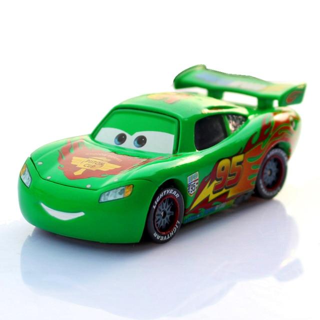Disney Pixar Cars 2 No.95 Lightning McQueen Green Limited