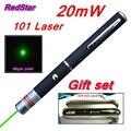 [RedStar] 20 МВт 101 Зеленый и Красный Лазерная ручка 532nm одна точка лазерная ручка указателя учитель указывает перо Подарочный набор включает металла коробка