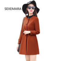 2017 Hot Sale Woman Wool Coat High Quality Winter Jacket Women Slim Woolen Long Cashmere Coats