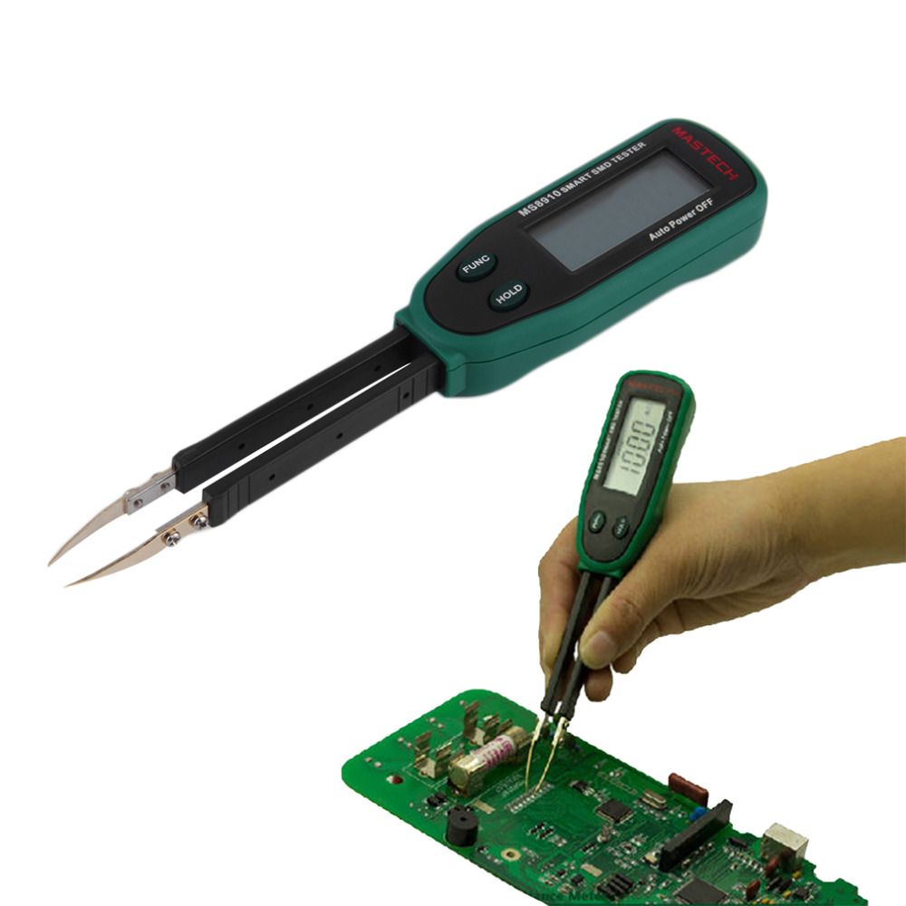 New Tweezers Smart SMD RC Resistance Capacitance Diode Meter Tester Auto Scan Brand New 2017 mastech ms8910 digital multimeter 3000 counts smart smd rc resistance capacitance diode meter tester auto scan