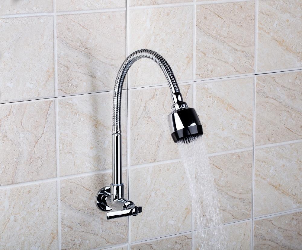 popular kitchen wall faucet spray buy cheap kitchen wall faucet yanksmart rq8551 2 spray stream chrome single handle wall mount swivel kicten faucet kitchen sink