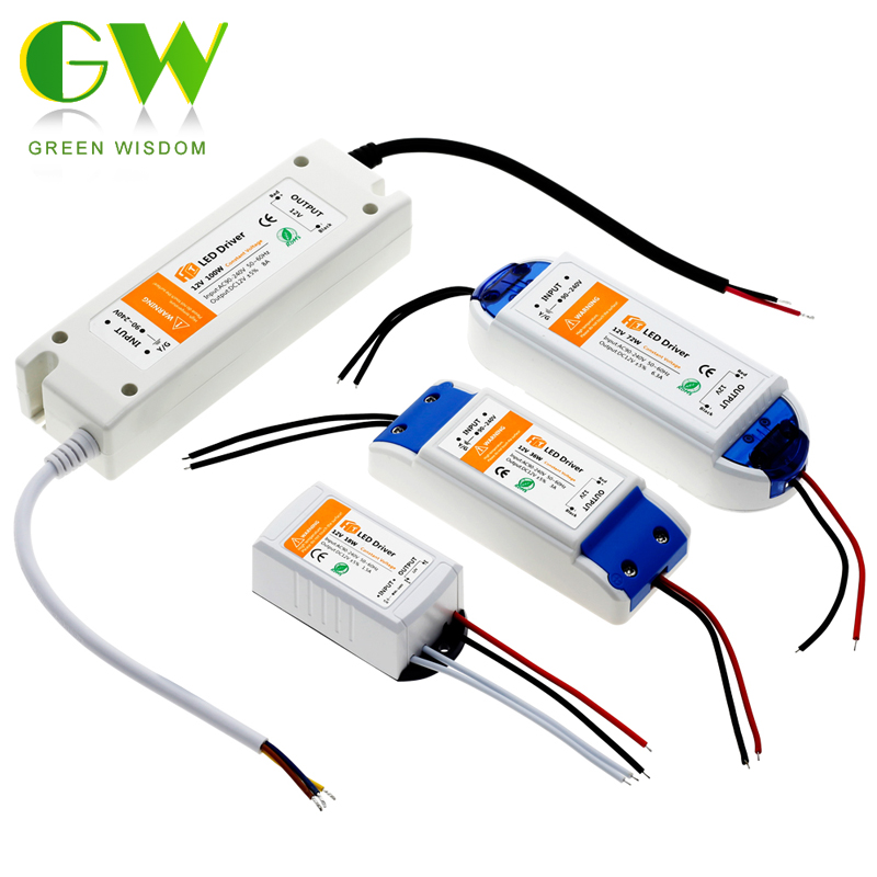 DC12V 18W 36W 72W 100W Lighting Transformers High Quality LED Driver for LED Strip 12V Power Supply.
