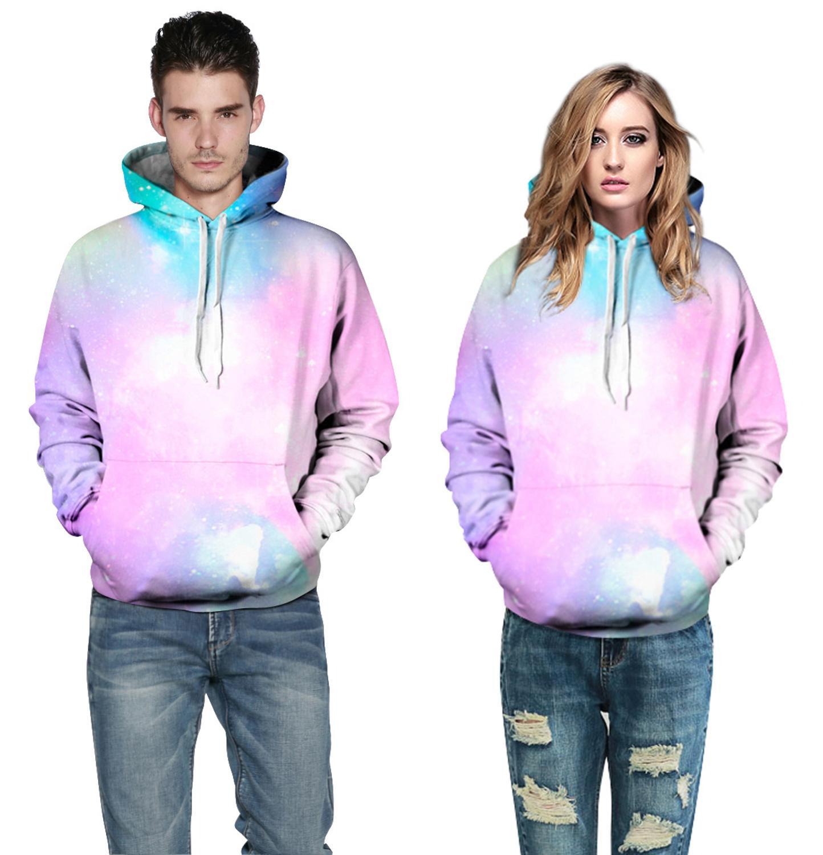 Spring Hoodie 3D Printed Sweatshirts Front Pocket Winter Coat Men Women Tops Clothing Hooded Lovers Clothing