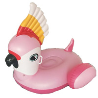 130cm Giant Inflatable Parrot Pool Float Newest Pink Ride On Swimming Ring For Adults Summer Water Holiday Party Toy