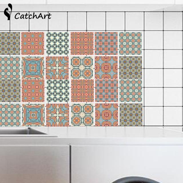 Retro Mosaik Fliesen Marokko Stil Wasserdichte selbstklebende Wand ...