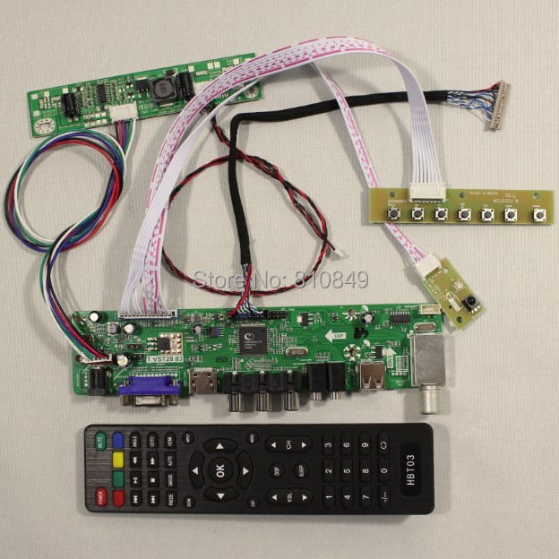 все цены на  TV/PC/HDMI/CVBS/RF/USB/AUDIO driver Board for 15inch G150XG01 V2 1024*768 Lcd  онлайн