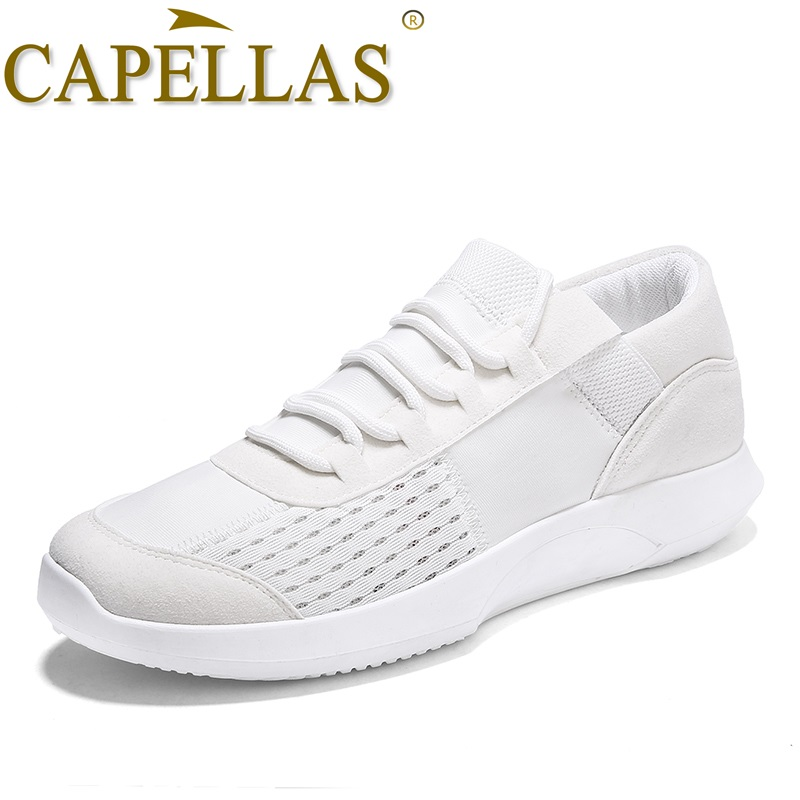 CAPELLAS Sport Designer Fashion Lightweight Men Canvas Shoes Men`s Casual Shoes Bretahable Summer Shoes for Mens Zapatos 39-44
