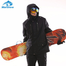 Marsnow Men's Ski Wear Waterproof Breathable Winter Thick Warm Outdoor Mountaineering Men Women Jacket Ski Suit Skiing Wear