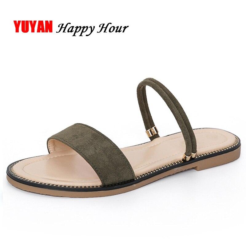 Brillant Mode Sommer Schuhe Frauen Flache Sandalen Hohe Qualität Damen Marke Schuhe Große Größe Frauen Sandalen Zh2892 Niedriger Preis Frauen Schuhe Frauen Sandalen
