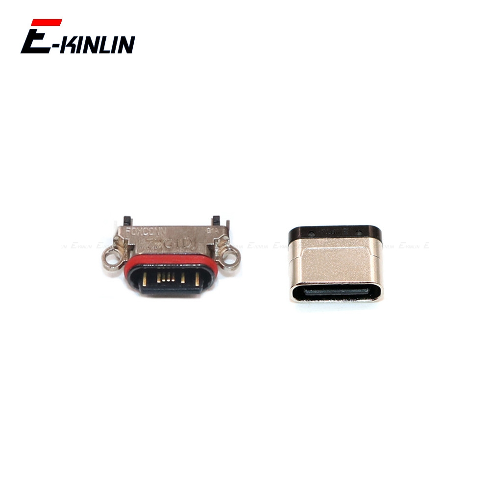 2pcs 100% New Micro Type-C USB Socket Connector Charging Plug Port For OnePlus X 1 2 3 3T 5 5T 6 6T 7 Pro Replacement Parts