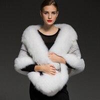 2018 New Real fox fur pashmina superluxury bride Mink fur shawl luxurious warm fur scarf fur stole