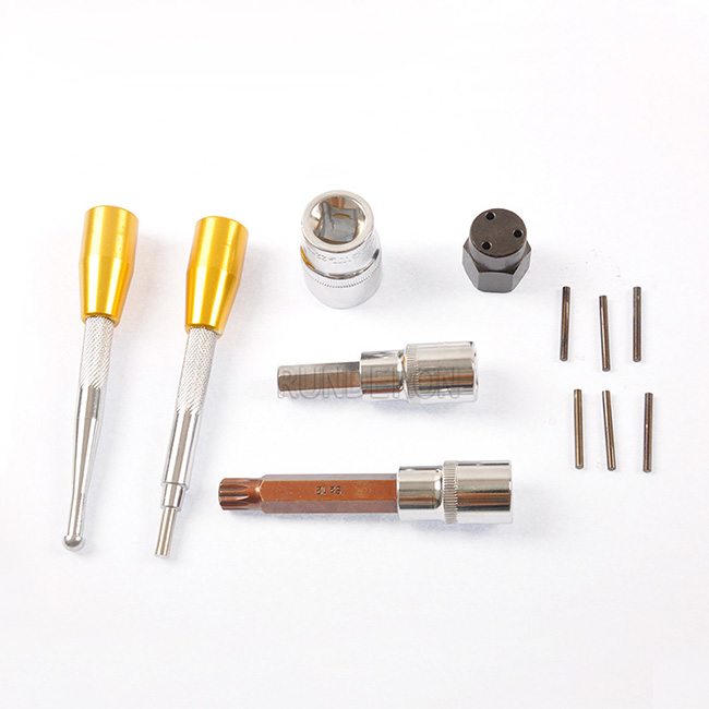 RUNDERON Euro 3 Common Rail Injector Disassembly Assembly Repair Tools Kit for Denso With Three claw Wrench RDL038