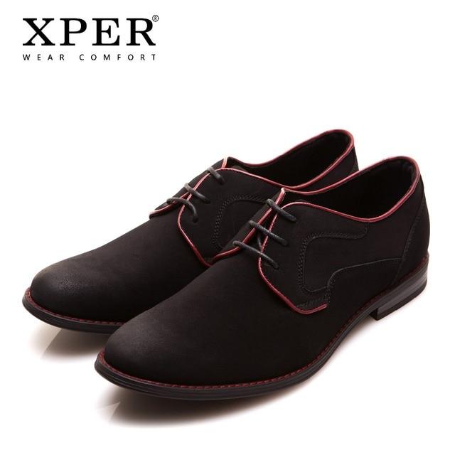 XPER מותג גברים שמלת נעלי אופנה נעלי חתונה Mens כחול מקרית הנעלה הרשמי לנשימה אוקספורד הנעלה זכר # YM518BU/ BL