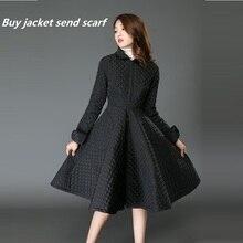 2016 New Fashion Winter Jacket Women Slim Elegant Cotton Long Skirt Style Down Jackets Parkas Warm Winter Coat Women Plus Size