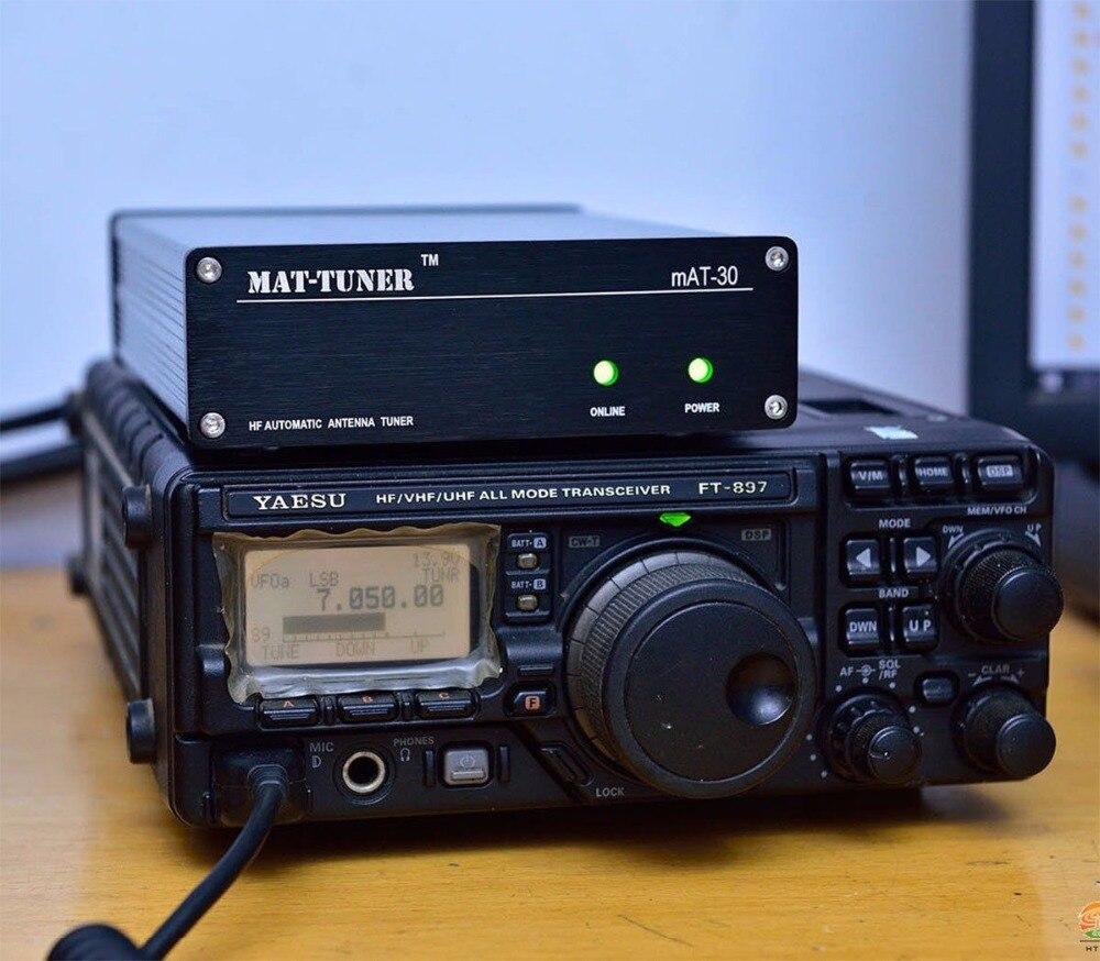 2017 Nouvelle version mAT-30 120 W HF Automatique Auto-tuner AUTO TUNER Automatique Antenne tuner Pour Yeasu Ham Radio