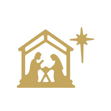 Dies Cutting Christmas Birth of Jesus Metal for DIY Scrapbooking Album Embossing Card Paper Crafts New Stencil