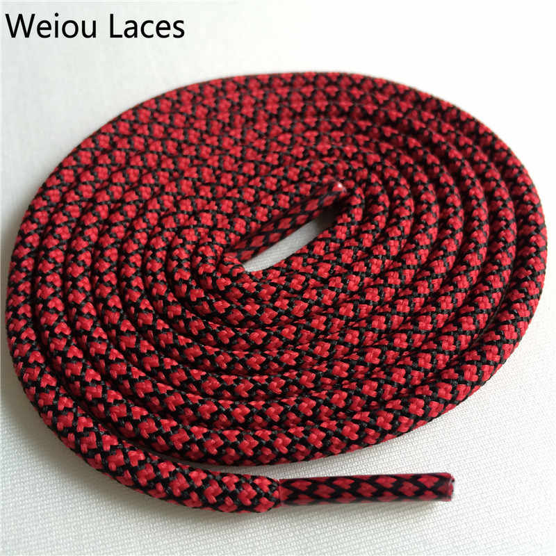 Weiou New Bright Colors Hiking Walking Two Toned Rope Laces Replacement Shoe Laces Round Rope Shoelaces For Basketball boots 750