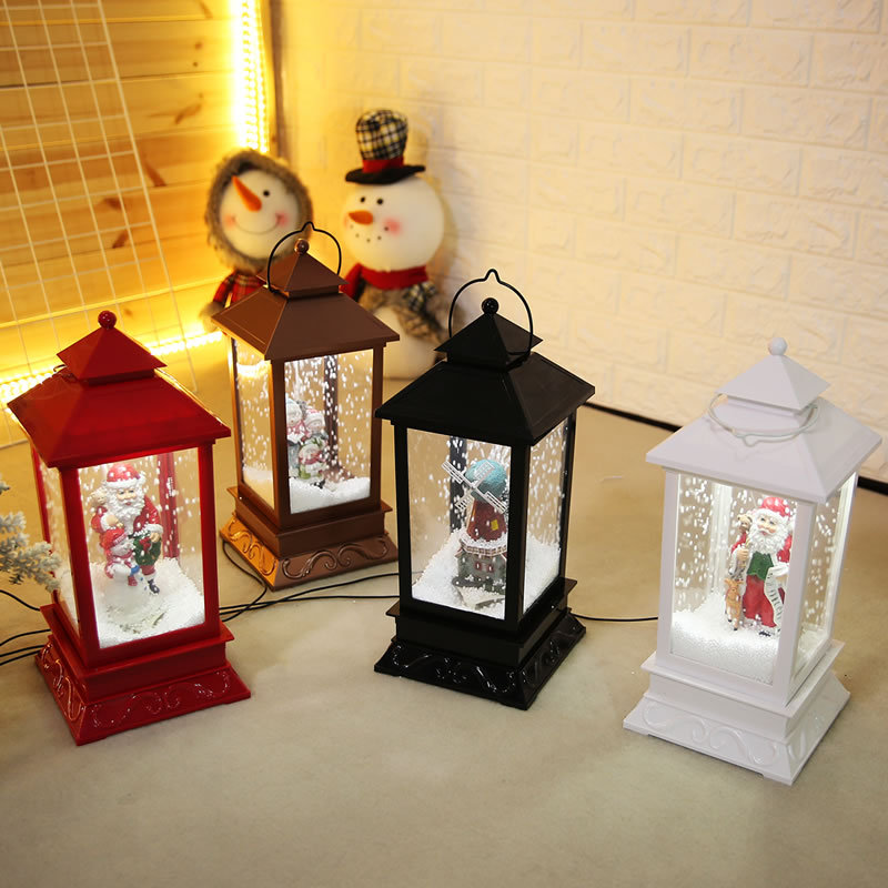Nouvelles décorations de noël créatif neige musique lanterne Festival scène décoration accessoires brillant boule de verre avec jouet de neige Speelgoed - 2
