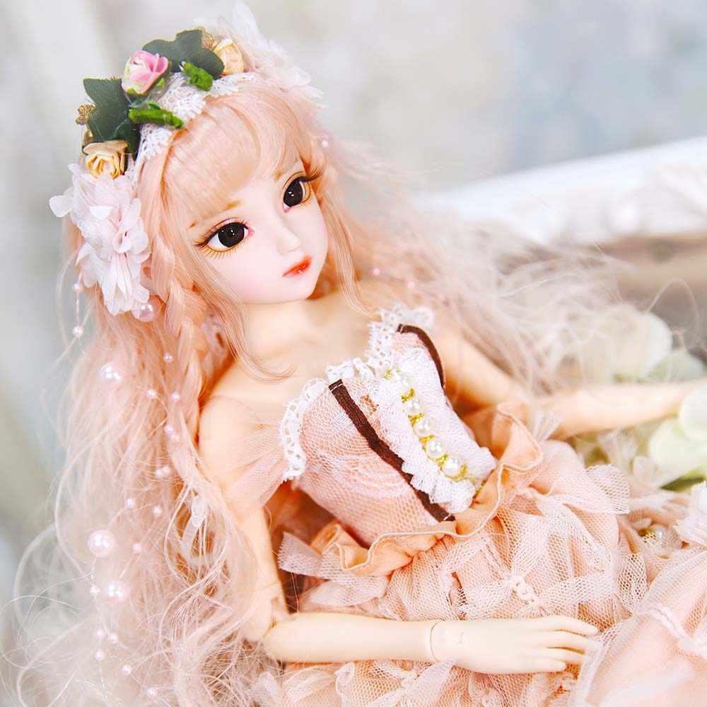 DBS 1/3 45CM DQ Princesa Fashion dolls corpo joint Bonecas BJD Bonecas SD pele branca Lindo roupas e sapatos maquiagem e aparelho