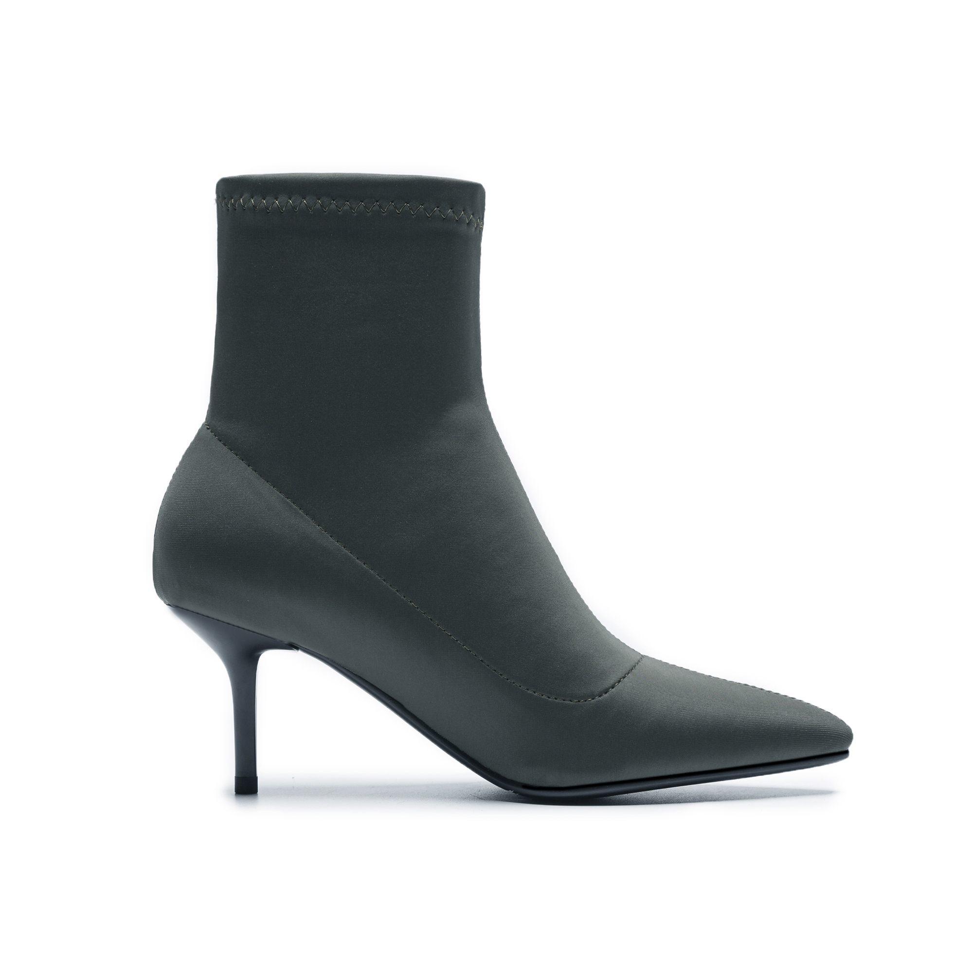 Automne Bout Partie 2018 Satin Pour Black green De Bottes Mode Stretch Pointu Chaussures Cr657 Femme Talons Enmayer Aiguilles Bottines vwPNnym80O