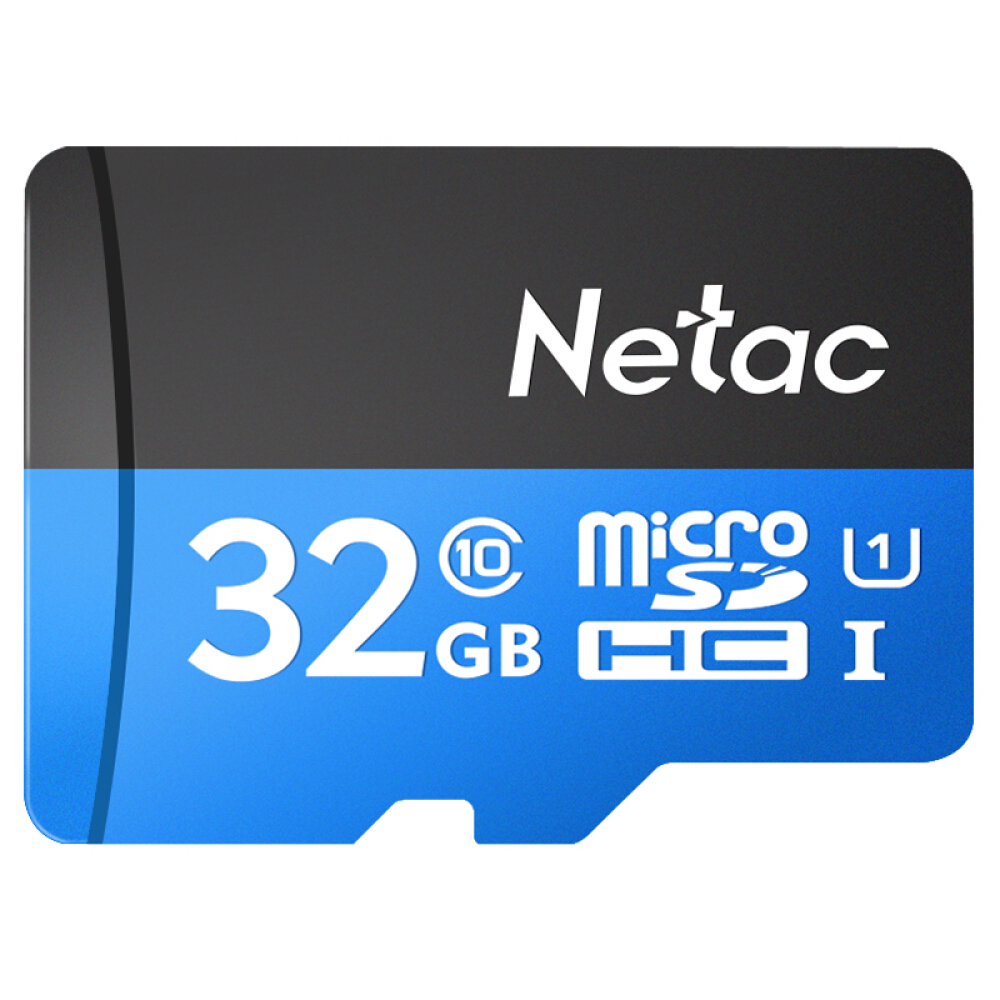 Netac P500 Class 10 32G TF Micro SD Card SDHC TF Flash Memory Card Data Storage UHS-1 High Speed 98MB/s For Cell Phones Camera
