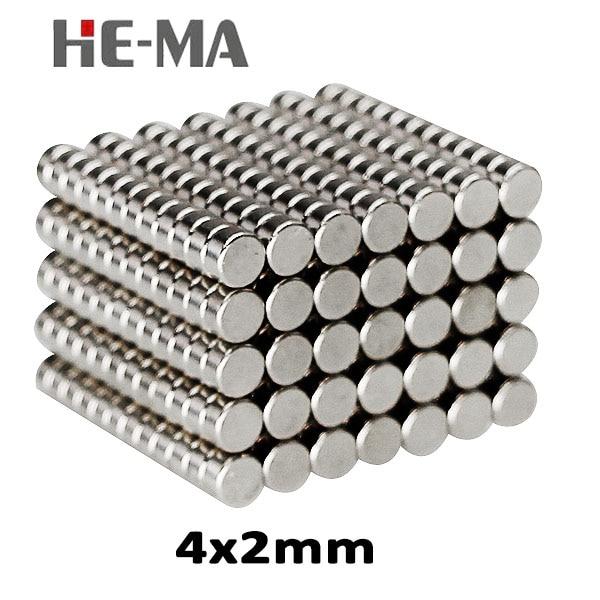 200Pcs 4x2 Neodymium Magnet Permanent N35 NdFeB Super Strong Powerful  Magnetic Magnets Disc 4mm x 2mm