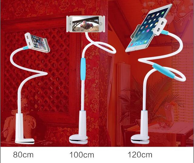 120 cm 360 Girado Tablet Ajustável Titular Suporte Flexível Braço Dobrável Cama Soporte Pará Tablet Carro Para O Iphone/Samsung/HTC