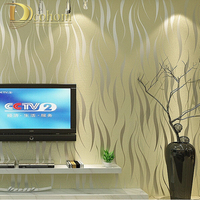 Modern Luxury 3D Wallpaper Stripe Wall Paper Papel De Parede Damask Wall Paer For Living Room