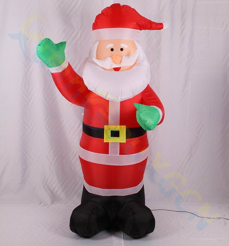 1.8M inflatable Santa Claus toy doll party hotel mall shop layout props New Year Christmas decorations ornament