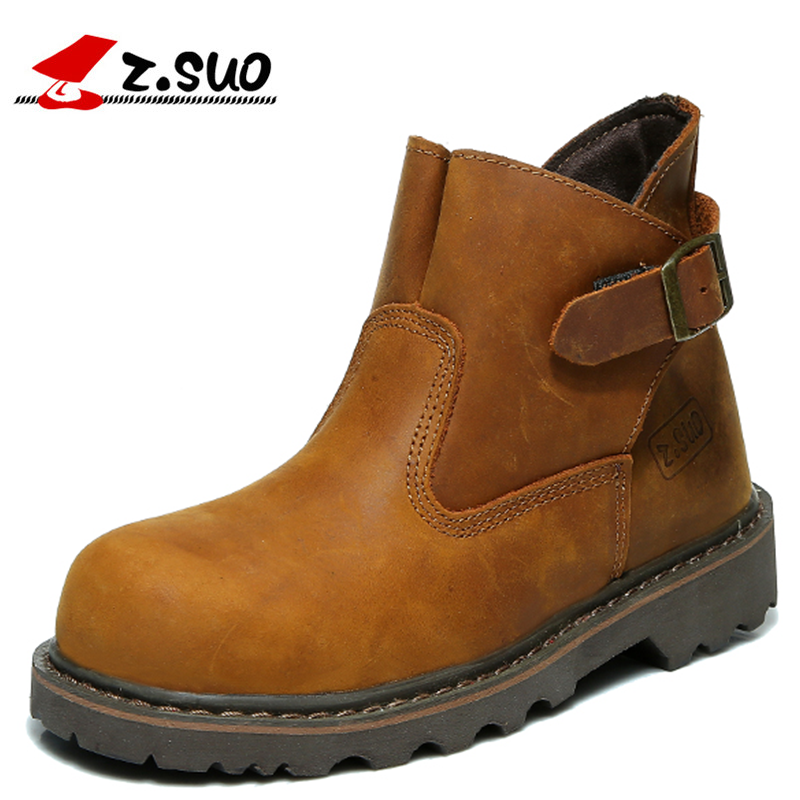Z.SUO High Quality Genuine Leather Fashion Buckles Boots Woman Leisure Fashion Winter Looping Female Tooling Boots high quality trumpf style press brake tooling special tooling bending dies