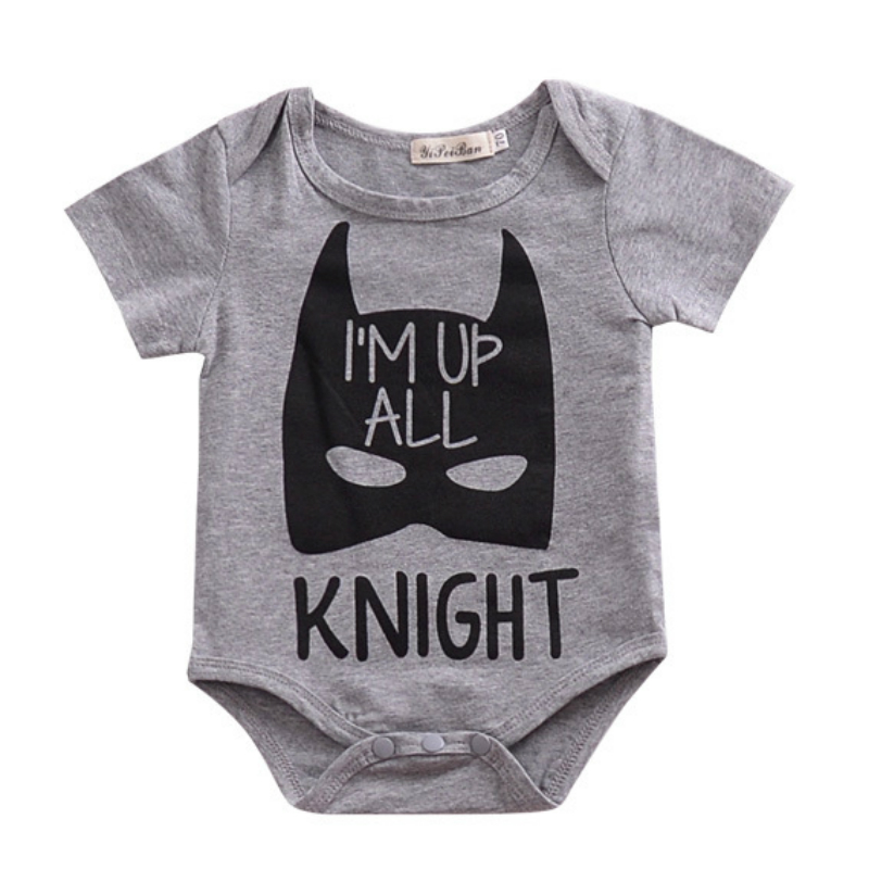 Cartoon Knight Monster Printed Short Sleeve Baby Boy Clothes Summer Baby Girl Onesie Newborn Baby Romper Barboteuse Overalls