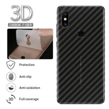 ФОТО 5Pcs Protective Film Clear 3D Carbon Fiber Soft Screen Protector Sticker Xiaomi Mi Max 3 Pro Max3 Back Film  Not Tempered Glass