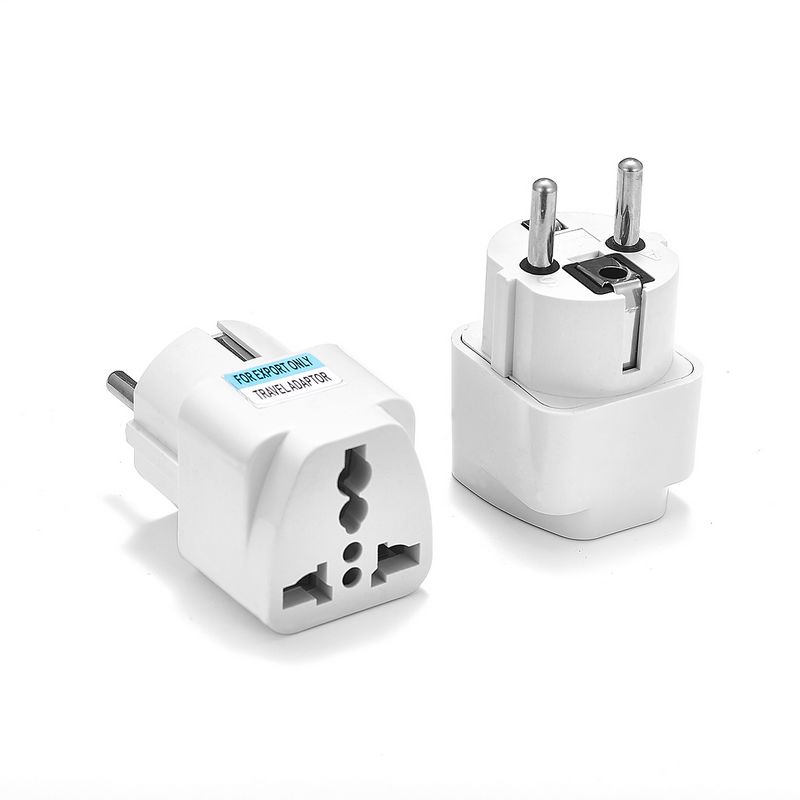Universal European KR EU Plug Adapter AU UK American US To EU KR Euro German Travel Adapter Electrical Plug Power Sockets Outlet
