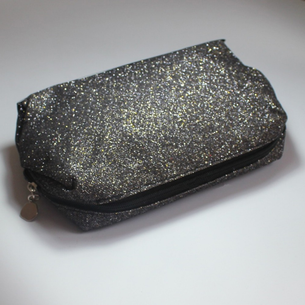 Lancom Brand Genuine Black Glitter Makeup Bag Ladys Fashion Cosmetic Bags In Cases From Luggage On Aliexpress Alibaba Group
