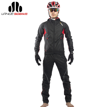 821a3c4a6 More Review SOBIKE Men s Cycling Bicycle Jacket Sets Bike Cycle Windproof  Long Jersey with hood Full Pants Equipment Clothing Suit Equipment
