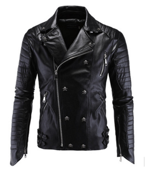 Men's Winter Faux Jacket Slim Fit Skull M-5XL