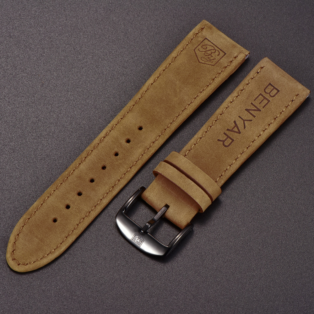 Original-BENYAR-Watchbands-Leather-Strap-For-BY-5102M-Watch-Band-Width-22mm-for-BY-5104M (3)