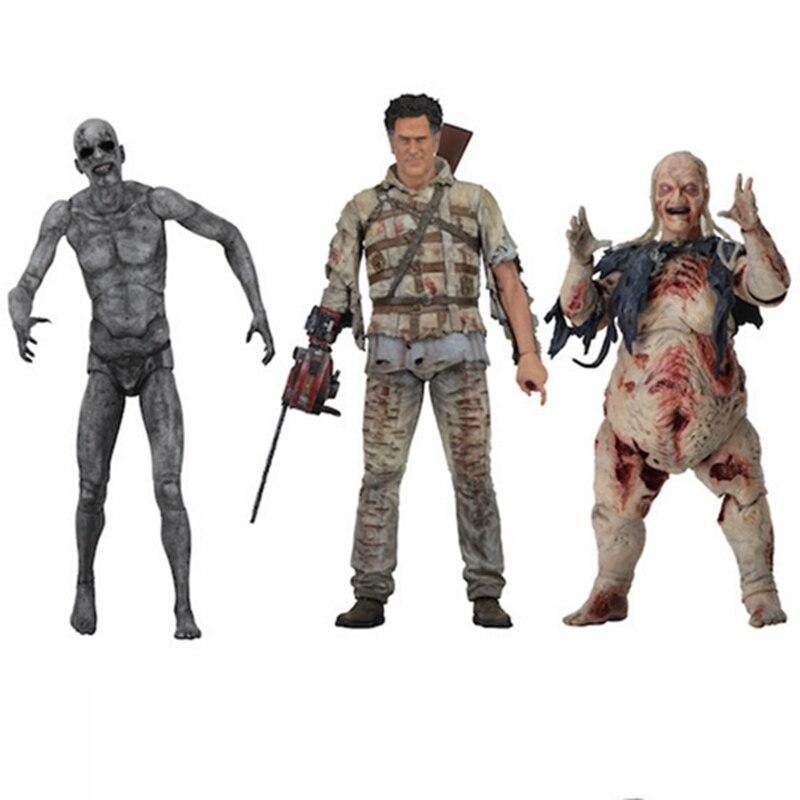 цена на NECA The Evil Dead Ash Vs Evil Dead Ash Williams Eligos PVC Figure Collectible Model Toy With Box 7