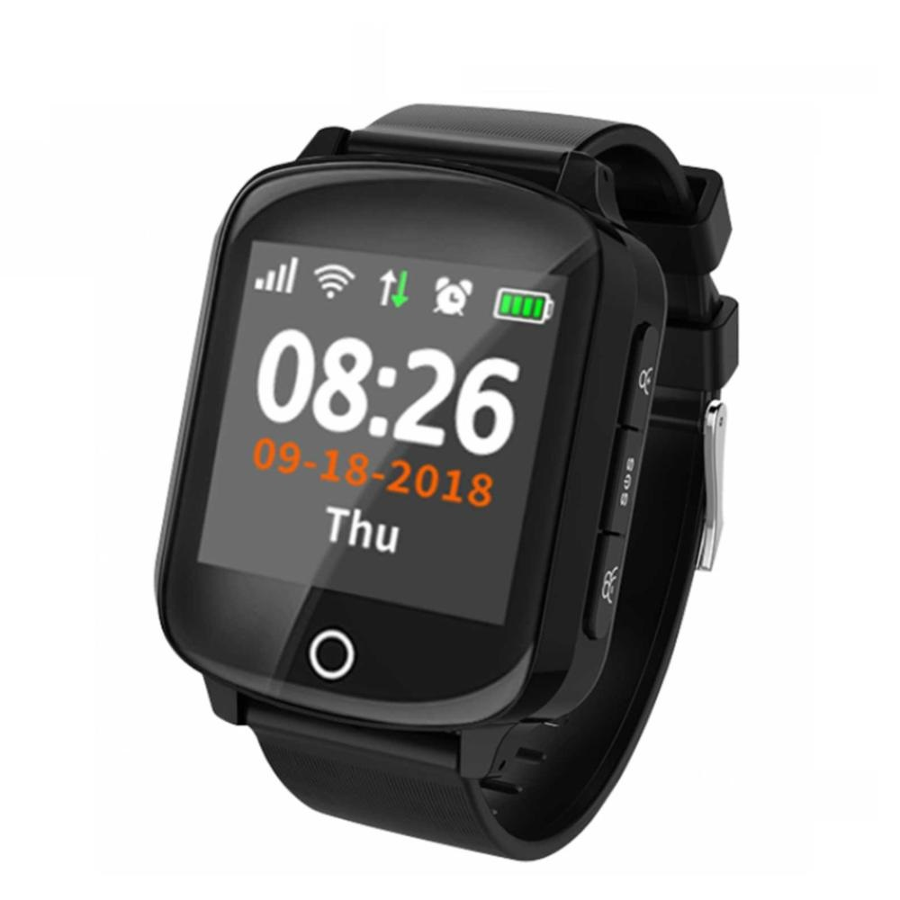 D200 GPS Tracker Locator Smart Watch For Elder Women Men Smartwatch With SOS Call Heart Rate Blood Pressure