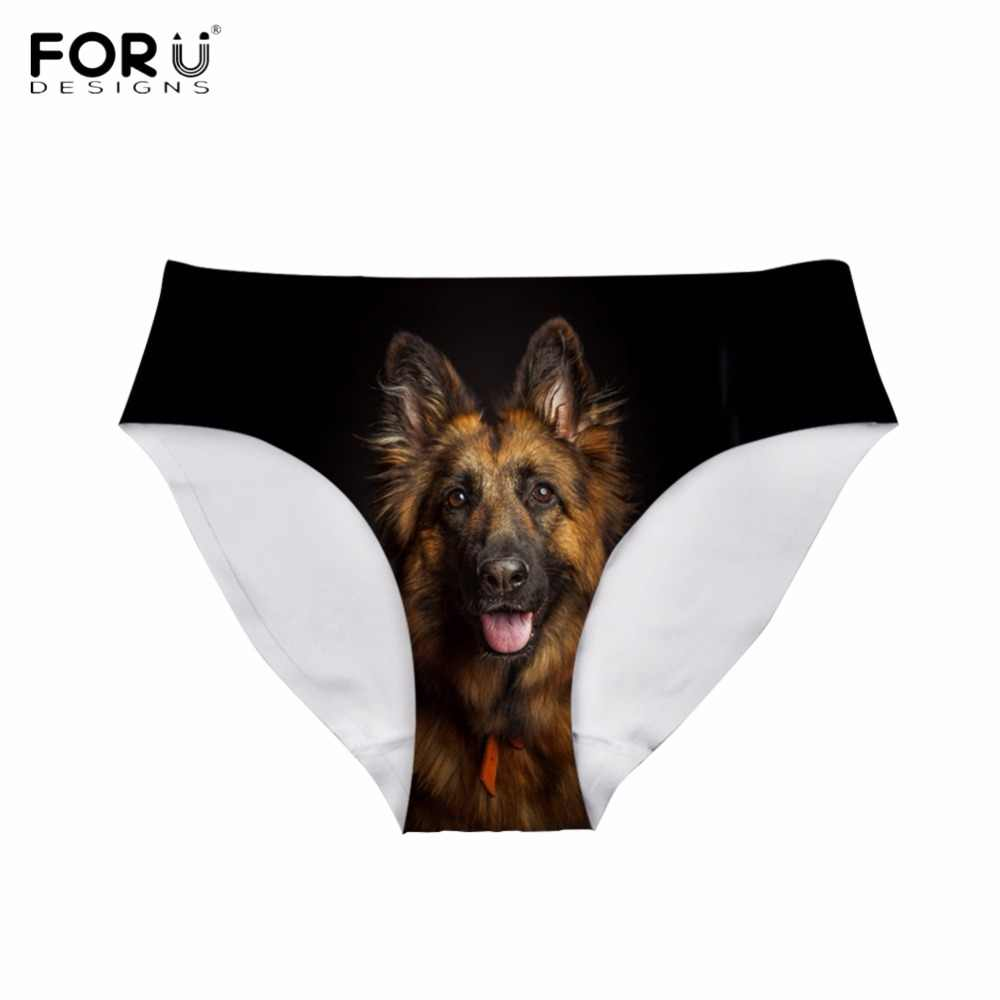 925d4156cf21 FORUDESIGNS Fashion Women Sexy Panties Funny Puppies German Shepherd Printing  Teen Girls Summer Underwear Bodybuilding Lingerie