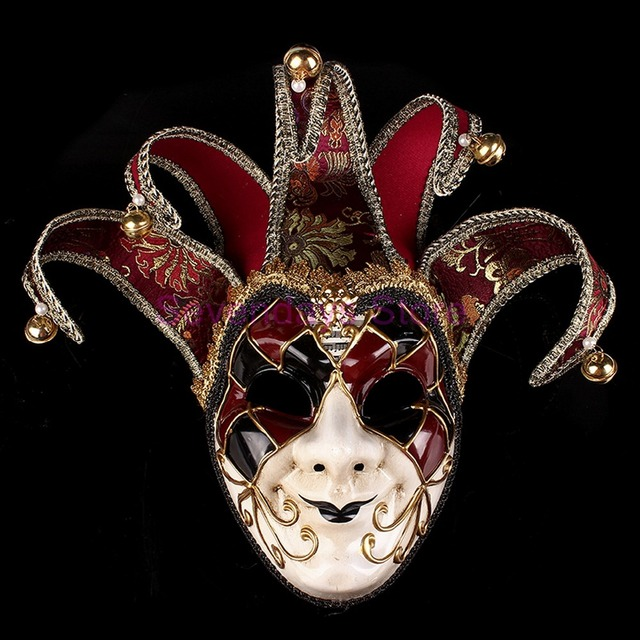 venice mask jester jolly for costume party masquerade carnival