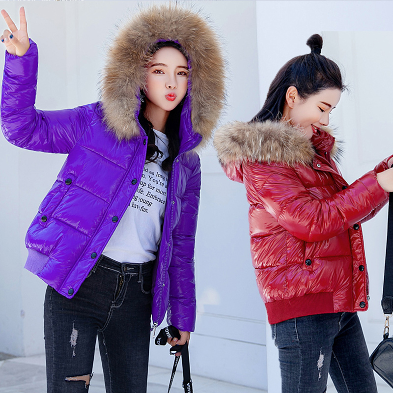 Для женщин парки Вниз Куртка с хлопковой подкладкой 2018 зимние женские повседневные воротник из искусственного меха с капюшоном теплый толс...