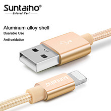 Suntaiho For iPhone Xs Max XR 7 8 6 Plus 6S 5 USB Charger Braided Cable For Lighting Fast Charging Data Sync Mobile Phone Cable(China)
