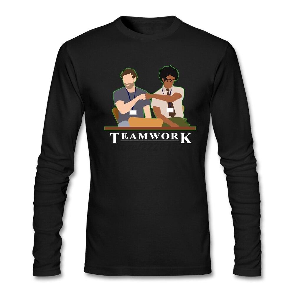Customize Tee Shirts for Mens Pro Club man Shirts IT Crowd Teamwork  Short  Camisetas DIY ideas Shirts Daily Wear