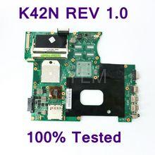 K42N REV 1,0 плата для ASUS K42N A42N X42N Материнская плата ноутбука не интегрировать DDR3 100% тестирование работает хорошо бесплатная доставка