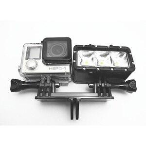 Image 4 - محوّل كاميرتان قاعدة تثبيت بحامل مزدوج مهايئ حامل Monopod لـ Gopro Hero7 6 5 جلسة 4 3 + 3 Xiaomiyi
