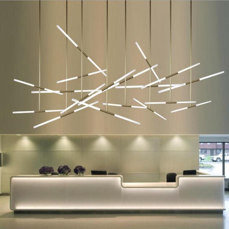 LukLoy Post Moderne Zweig Licht Decke Anhänger Lampe Büro Zähler Insel Loft Shop Halle DIY Suspension Beleuchtung Leuchte