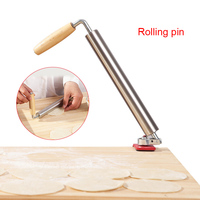 Fashion Hot Stainless Steel Dough Rolling Pin Baking Cooking Tool Roller for Pasta Pizza Dough FBE2