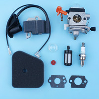 Carburetor Ignition Coil Air Fuel Filter Gasket Kit Fit Stihl FS110R KM110R FS110 FS90 FS90R FS100R FC90 Brush Cutter Trimmer